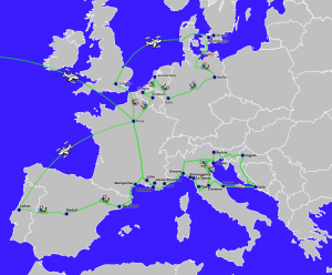 Trip through Europe